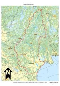 Karta Helgeåns åtgärdsområde